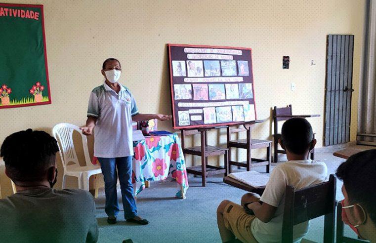 Semtraps Realiza Atividades Com Grupo De Adolescentes Do Serviço De Convivência E Fortalecimento De Vínculos Do Cras Caeté.