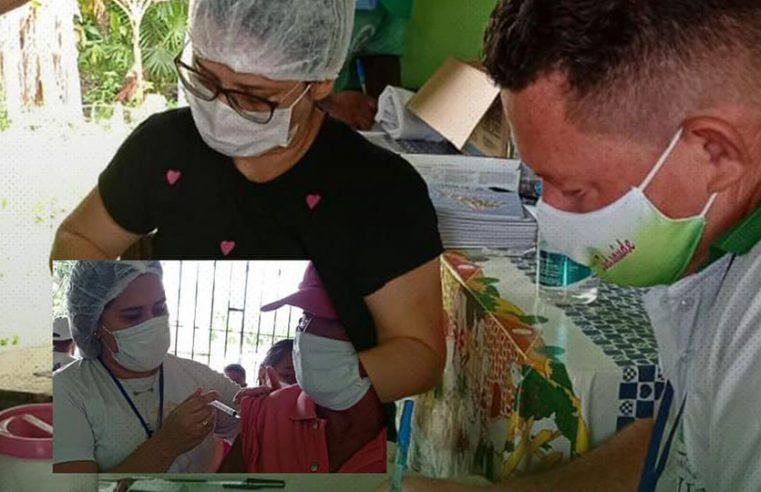 Vacinação na comunidade do Lago e Bom Jardim.