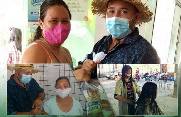 Vacinação na comunidade da Acarpará.