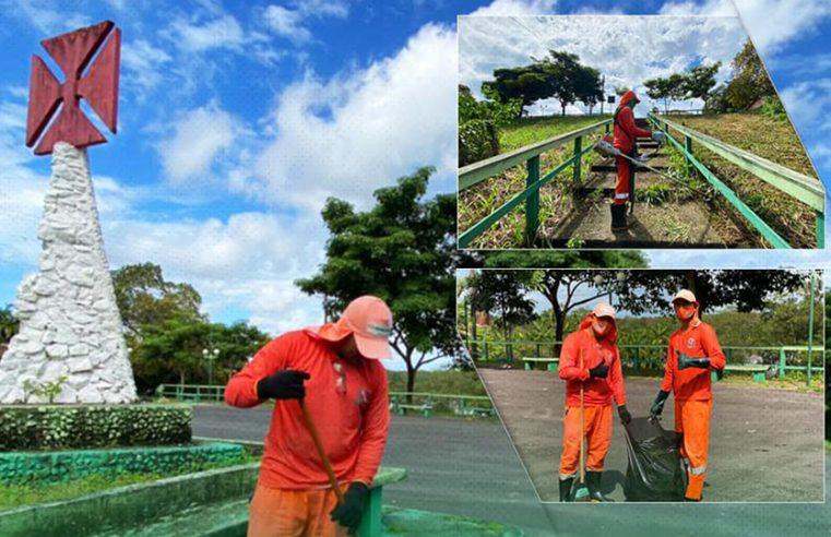 Trabalhos de limpeza na Vila Que Era.