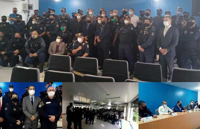 Reunião no Instituto de Ensino de Segurança do Pará.