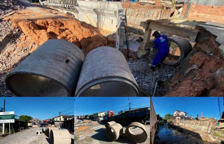 Nova ponte da Av. Polidório Coelho.