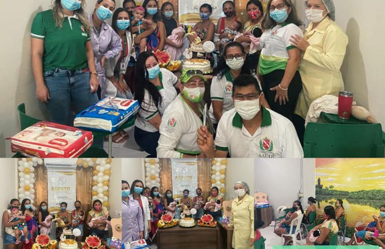 Campanha Agosto Dourado, na Unidade Básica de Saúde da Aldeia.