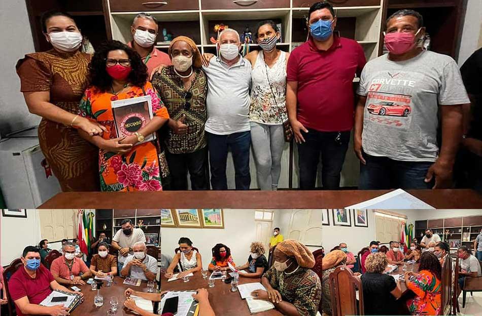 REÚNIÃO COM REPRESENTANTES DA ASSOCIAÇÃO REMANESCENTE QUILOMBO DO AMÉRICA.
